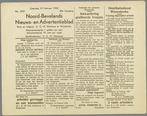 Noord-Bevelands Nieuws- en advertentieblad 1945-02-10