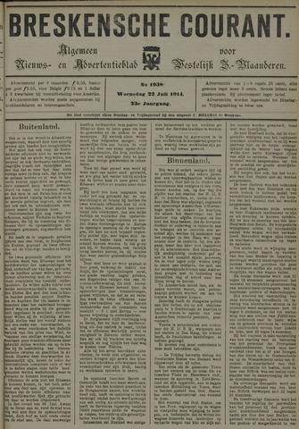 Breskensche Courant 1914-07-22