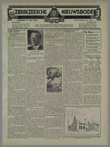 Zierikzeesche Nieuwsbode 1940-07-27