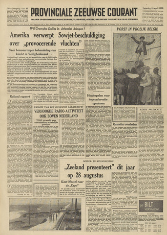 Provinciale Zeeuwse Courant 1958-04-19