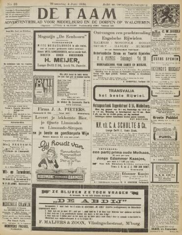 de Faam en de Faam/de Vlissinger 1924-06-04