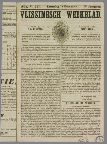 Vlissings Weekblad 1867-12-28