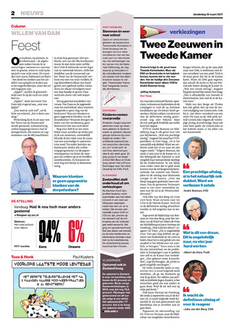 Provinciale Zeeuwse Courant 2017-03-16
