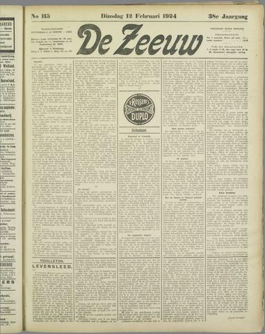 De Zeeuw. Christelijk-historisch nieuwsblad voor Zeeland 1924-02-12