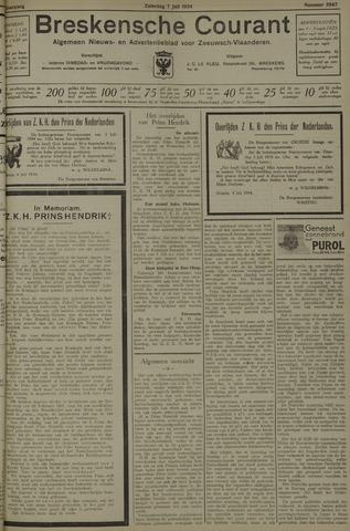 Breskensche Courant 1934-07-07