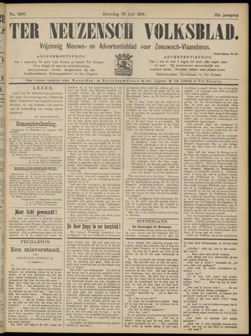 Ter Neuzensch Volksblad. Vrijzinnig nieuws- en advertentieblad voor Zeeuwsch- Vlaanderen / Zeeuwsch Nieuwsblad. Nieuws- en advertentieblad voor Zeeland 1911-07-29