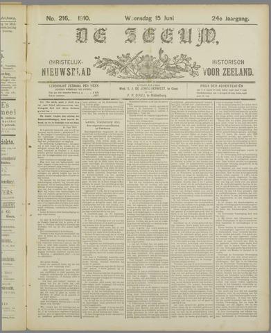 De Zeeuw. Christelijk-historisch nieuwsblad voor Zeeland 1910-06-15