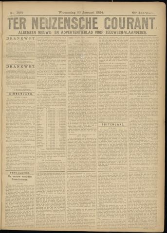 Ter Neuzensche Courant. Algemeen Nieuws- en Advertentieblad voor Zeeuwsch-Vlaanderen / Neuzensche Courant ... (idem) / (Algemeen) nieuws en advertentieblad voor Zeeuwsch-Vlaanderen 1924-01-23