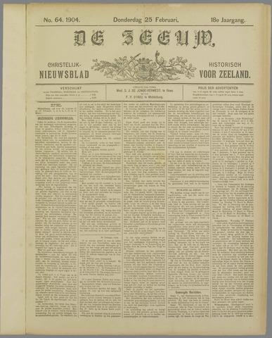 De Zeeuw. Christelijk-historisch nieuwsblad voor Zeeland 1904-02-25