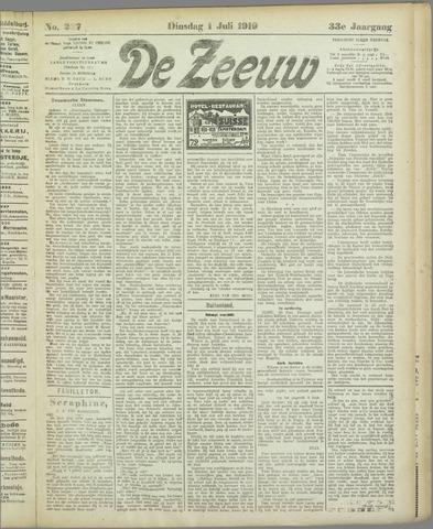 De Zeeuw. Christelijk-historisch nieuwsblad voor Zeeland 1919-07-01