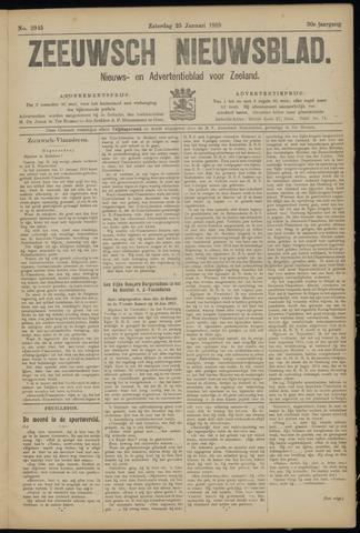 Ter Neuzensch Volksblad. Vrijzinnig nieuws- en advertentieblad voor Zeeuwsch- Vlaanderen / Zeeuwsch Nieuwsblad. Nieuws- en advertentieblad voor Zeeland 1919-01-25