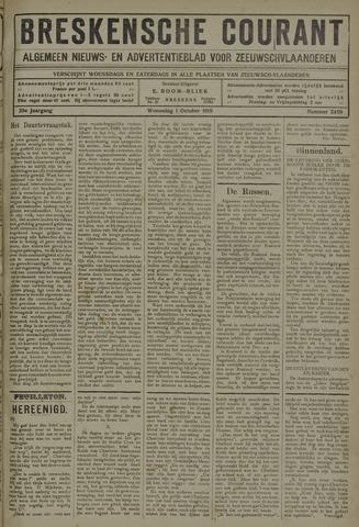 Breskensche Courant 1919-10-01