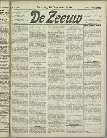 De Zeeuw. Christelijk-historisch nieuwsblad voor Zeeland 1920-11-13