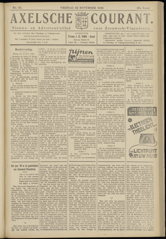 Axelsche Courant 1940-11-22