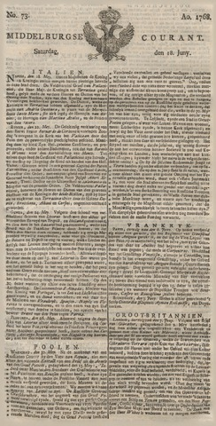 Middelburgsche Courant 1768-06-18