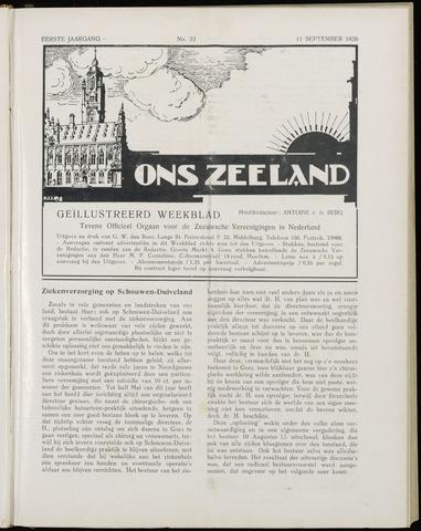 Ons Zeeland / Zeeuwsche editie 1926-09-11
