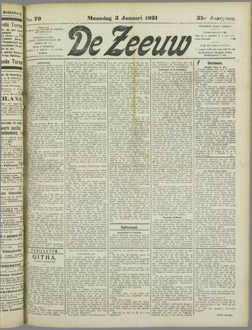 De Zeeuw. Christelijk-historisch nieuwsblad voor Zeeland 1921-01-03