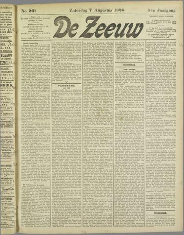 De Zeeuw. Christelijk-historisch nieuwsblad voor Zeeland 1920-08-07