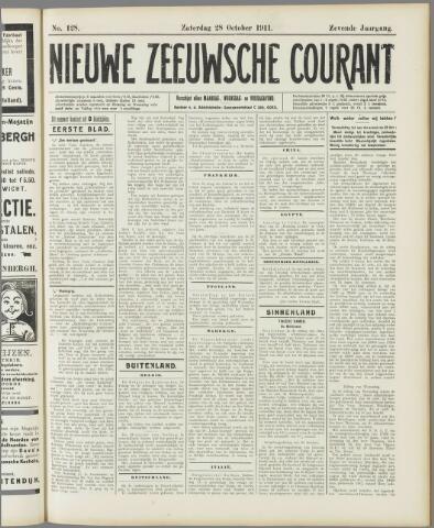 Nieuwe Zeeuwsche Courant 1911-10-28
