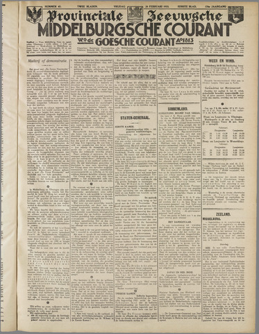 Middelburgsche Courant 1933-02-24