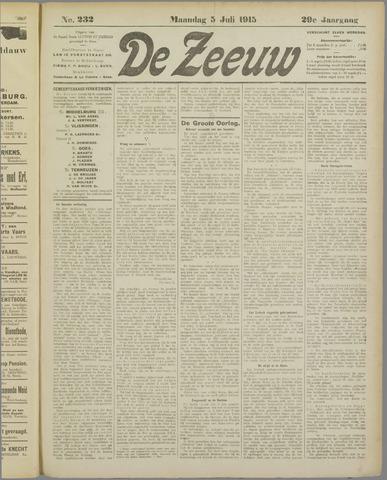 De Zeeuw. Christelijk-historisch nieuwsblad voor Zeeland 1915-07-05