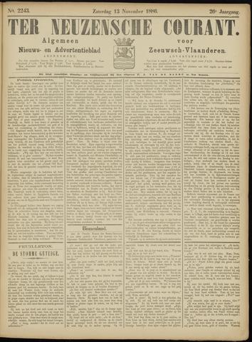 Ter Neuzensche Courant. Algemeen Nieuws- en Advertentieblad voor Zeeuwsch-Vlaanderen / Neuzensche Courant ... (idem) / (Algemeen) nieuws en advertentieblad voor Zeeuwsch-Vlaanderen 1886-11-13