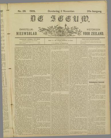 De Zeeuw. Christelijk-historisch nieuwsblad voor Zeeland 1905-11-02