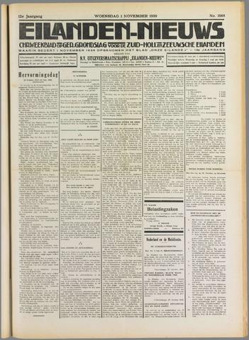 Eilanden-nieuws. Christelijk streekblad op gereformeerde grondslag 1939-11-01