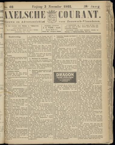 Axelsche Courant 1922-11-03