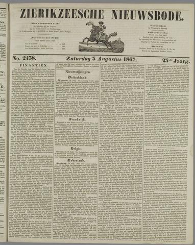Zierikzeesche Nieuwsbode 1867-08-03