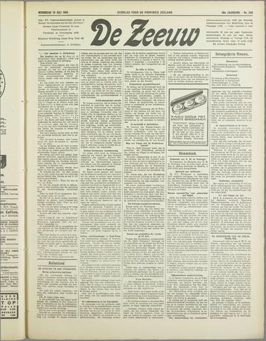 De Zeeuw. Christelijk-historisch nieuwsblad voor Zeeland 1934-07-18