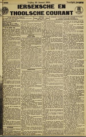 Ierseksche en Thoolsche Courant 1924-01-25