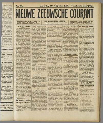 Nieuwe Zeeuwsche Courant 1918-08-10