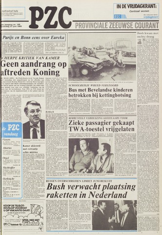 Provinciale Zeeuwse Courant 1985-06-27