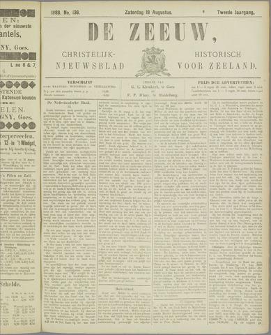 De Zeeuw. Christelijk-historisch nieuwsblad voor Zeeland 1888-08-18