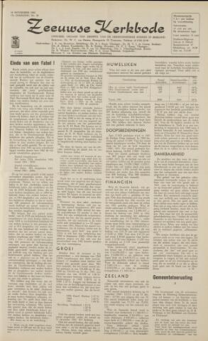 Zeeuwsche kerkbode, weekblad gewijd aan de belangen der gereformeerde kerken/ Zeeuwsch kerkblad 1962-11-16