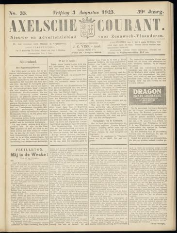 Axelsche Courant 1923-08-03
