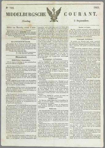 Middelburgsche Courant 1865-09-05