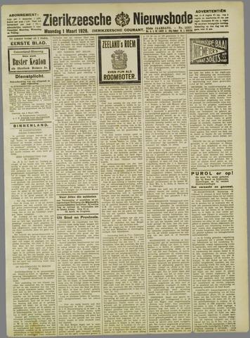 Zierikzeesche Nieuwsbode 1926-03-01