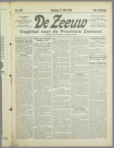 De Zeeuw. Christelijk-historisch nieuwsblad voor Zeeland 1930-05-27
