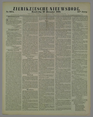 Zierikzeesche Nieuwsbode 1888-12-20