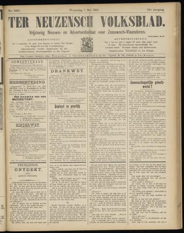 Ter Neuzensch Volksblad. Vrijzinnig nieuws- en advertentieblad voor Zeeuwsch- Vlaanderen / Zeeuwsch Nieuwsblad. Nieuws- en advertentieblad voor Zeeland 1913-05-07