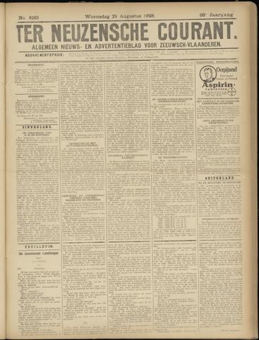Ter Neuzensche Courant. Algemeen Nieuws- en Advertentieblad voor Zeeuwsch-Vlaanderen / Neuzensche Courant ... (idem) / (Algemeen) nieuws en advertentieblad voor Zeeuwsch-Vlaanderen 1928-08-29