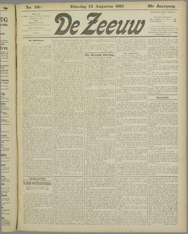 De Zeeuw. Christelijk-historisch nieuwsblad voor Zeeland 1917-08-14