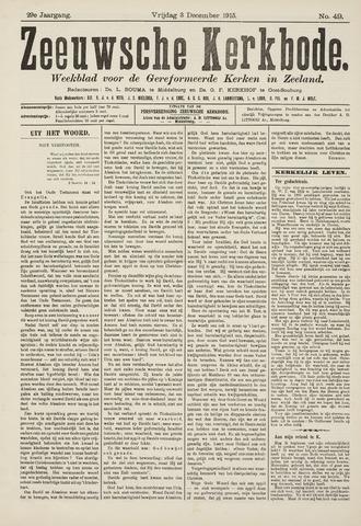 Zeeuwsche kerkbode, weekblad gewijd aan de belangen der gereformeerde kerken/ Zeeuwsch kerkblad 1915-12-03