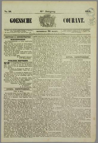 Goessche Courant 1854-03-30