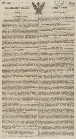 Middelburgsche Courant 1827-09-25