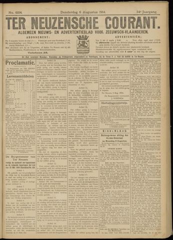 Ter Neuzensche Courant. Algemeen Nieuws- en Advertentieblad voor Zeeuwsch-Vlaanderen / Neuzensche Courant ... (idem) / (Algemeen) nieuws en advertentieblad voor Zeeuwsch-Vlaanderen 1914-08-06