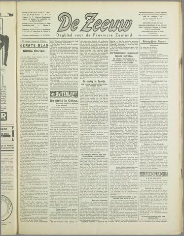 De Zeeuw. Christelijk-historisch nieuwsblad voor Zeeland 1937-10-07