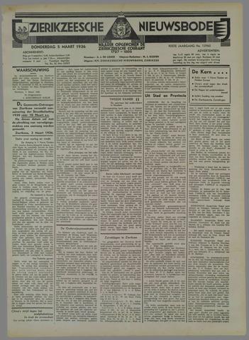 Zierikzeesche Nieuwsbode 1936-03-05